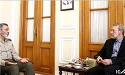 دیدار رئیس مجلس با فرمانده کل ارتش