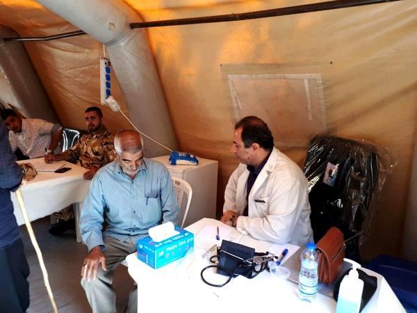 برپایی بیمارستان صحرایی در حاشیه رزمایش اقتدار ارتش