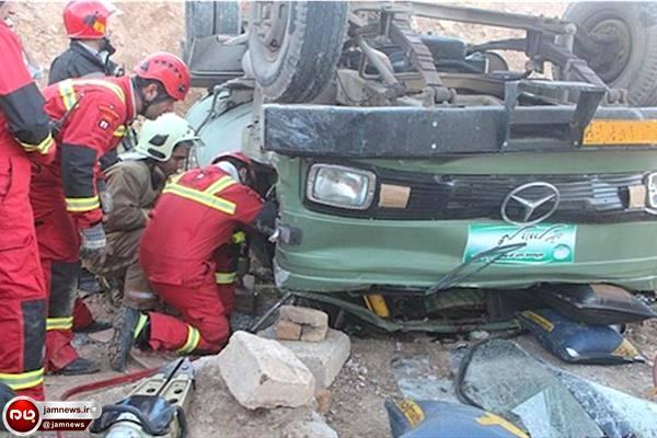 واژگونی خودروی حامل افاغنه 13 مجروح برجای گذاشت