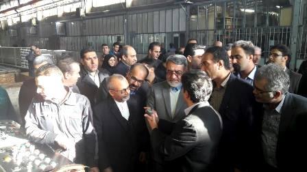 وزیر کشور از شرکت آلومرول اراک بازدید کرد