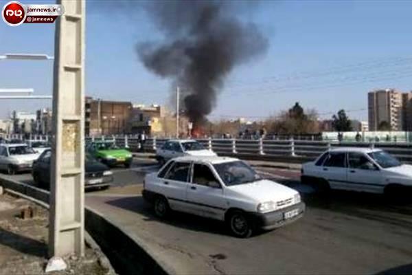 صدای ۹ انفجار پی در پی در اسلامشهر +عکس