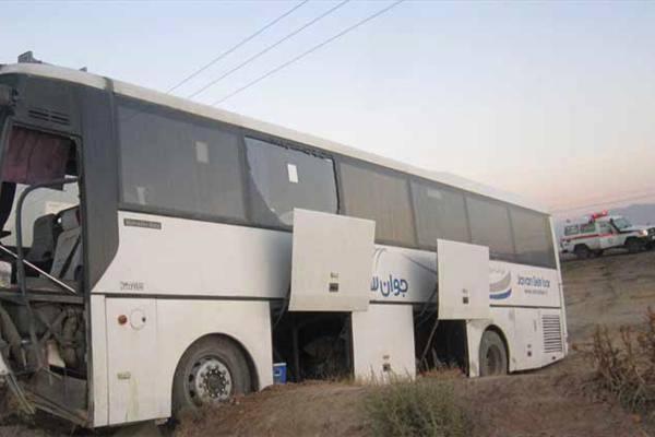 حادثهای دیگر در نیریز برای اتوبوس سربازان