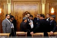 گزارش تصویری/ دیدار رئیس مجلس دومای روسیه با دکتر لاریجانی