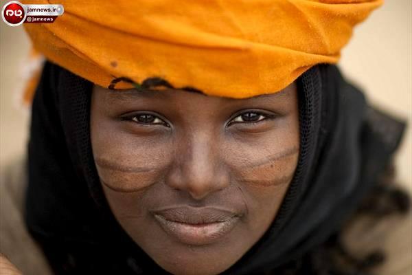 آرایش دختران زیبای آفریقایی با تیغ + عکس