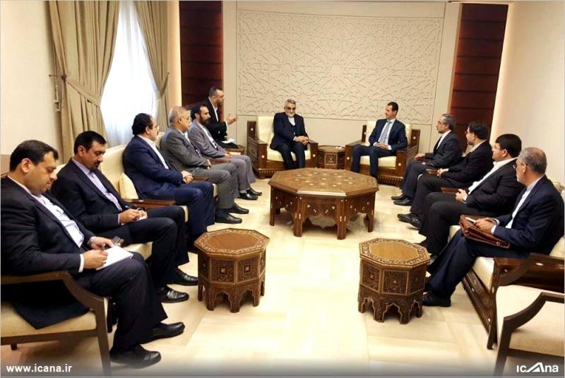 گزارش تصویری/ دیدار علاءالدین بروجردی و اعضای کمیسیون امنیت ملی و سیاست خارجی مجلس با بشار اسد