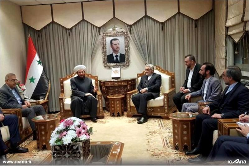 گزارش تصویری/ دیدار علاءالدین بروجردی و اعضای کمیسیون امنیت ملی و سیاست خارجی مجلس با مفتی اعظم سوریه