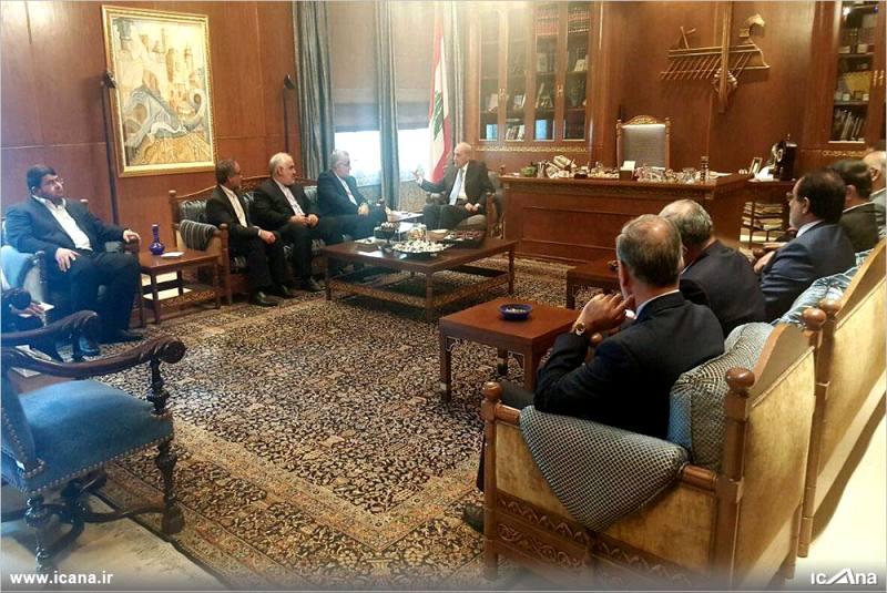 گزارش تصویری/ دیدار هیأت پارلمانی مجلس شورای اسلامی ایران با رئیس مجلس لبنان