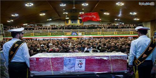تشییع پیکر مامور محافظ وطن در ساری