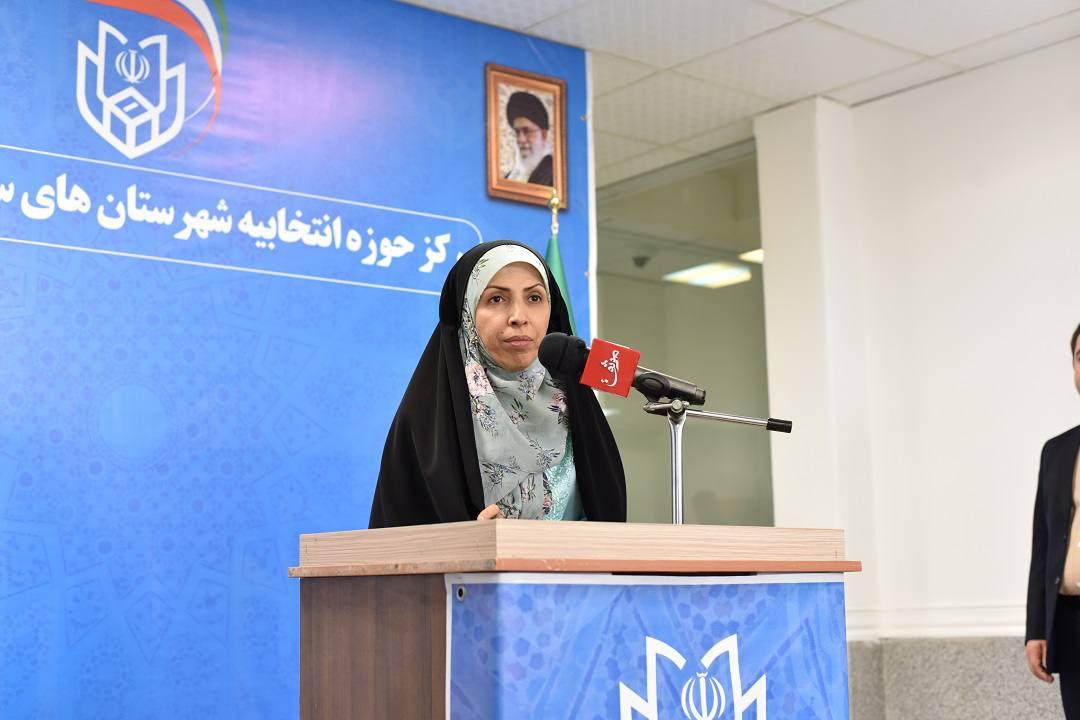 گزارش تصویری از ثبت نام دکتر عالیه زمانی در انتخابات مجلس یازدهم