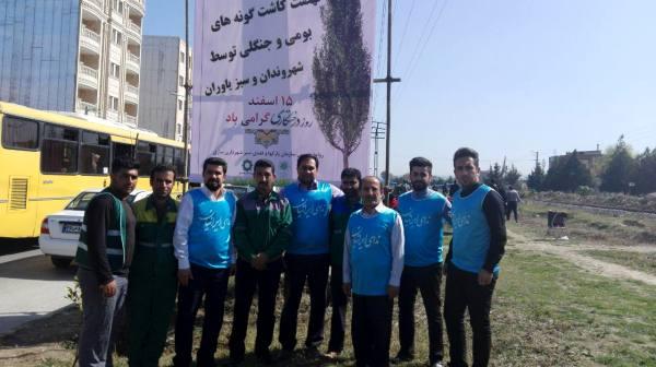 حضور برخی از اعضای شورای مرکزی ندای ایرانیان مازندران در مراسم درختکاری