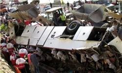جزئیات تصادف اتوبوس گنبدکاووس در گردنه گدوک/ عمل نکردن ترمز و سُرخوردن اتوبوس واژگونشده روی جاده