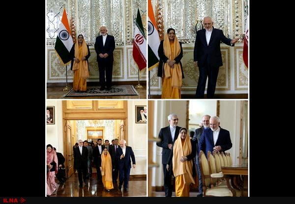 وزیر امور خارجه هند با ظریف دیدار کرد