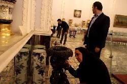 انتقال اشیاء کاخ گلستان از بیم زلزله