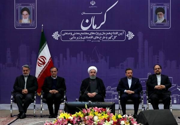 افتتاح طرحهای ۱۳ گانه مس کرمان توسط رییس جمهور از طریق ویدئو کنفرانس