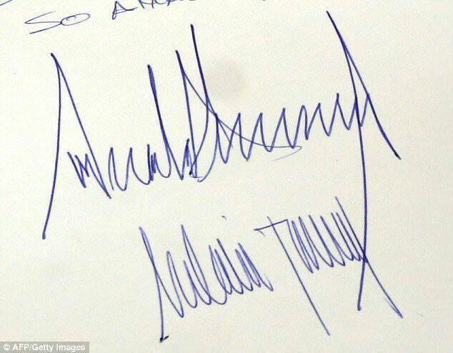 رازهای پنهانی پشت دستخط ترامپ و همسرش ملانیا+ تصاویر