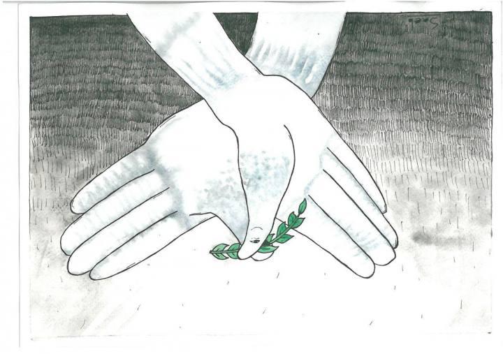 کارتون اختصاصی موثق به مناسبت روز صلح